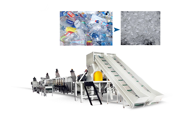 pet bottle washing recycling machine