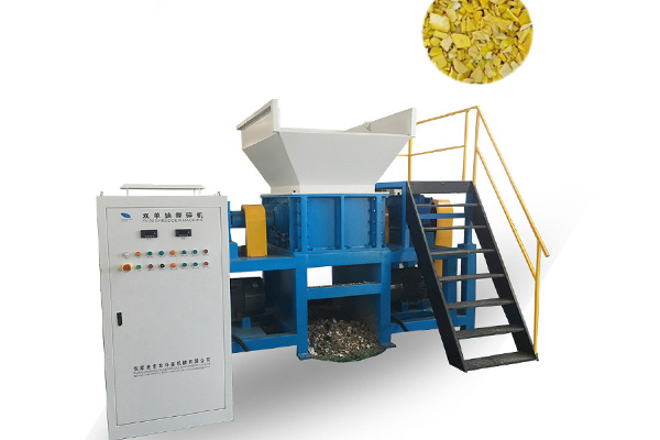 double shaft shredding machine